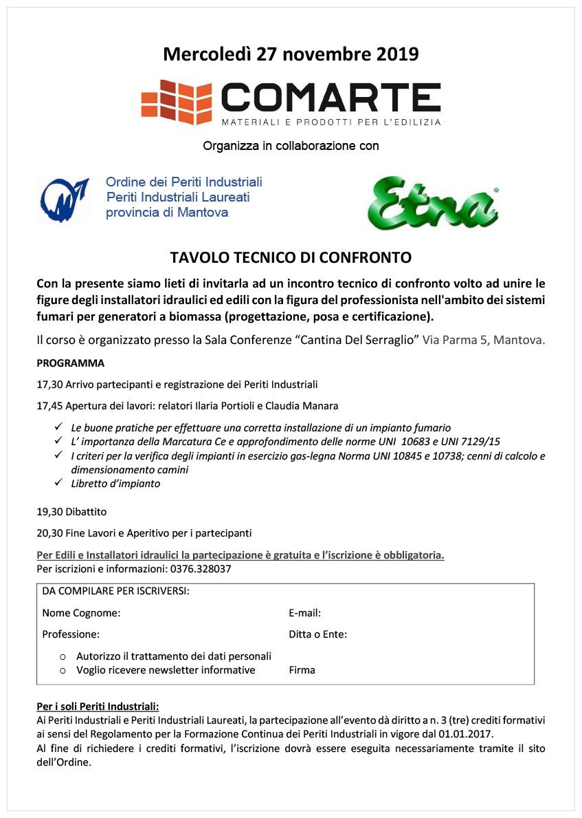 Etna inox - Tavolo tecnico di confronto