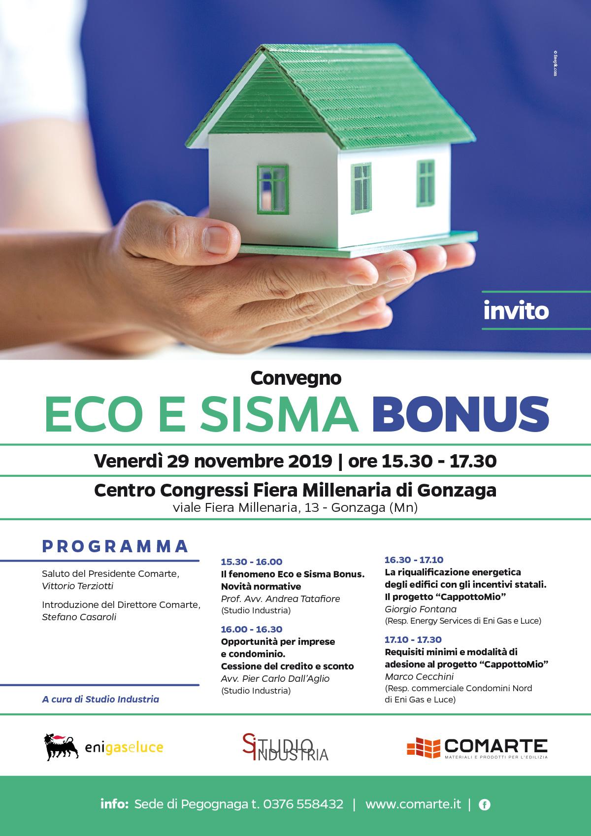 Eco e Sisma Bonus Convegno