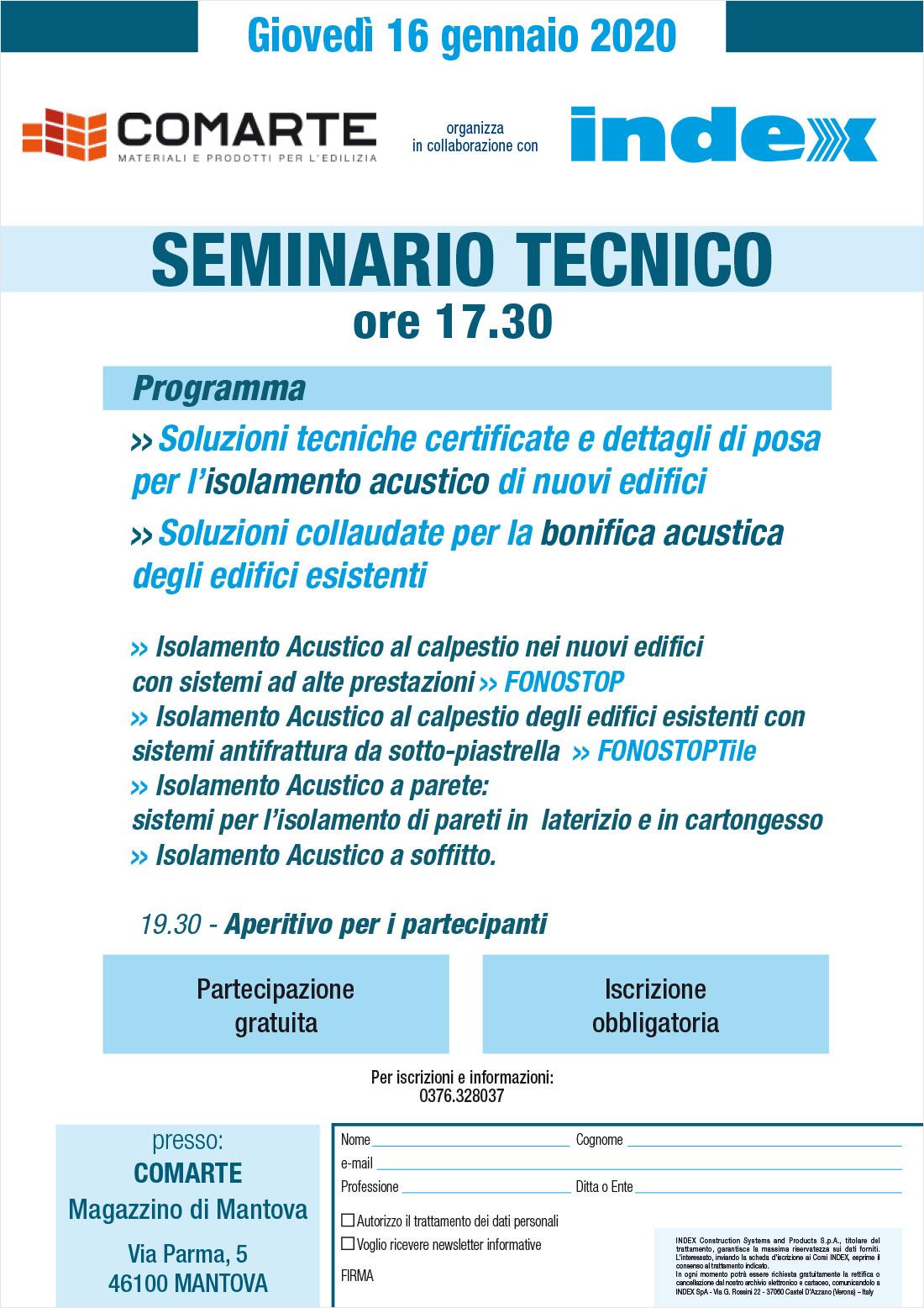 Seminario Tecnico INDEX
